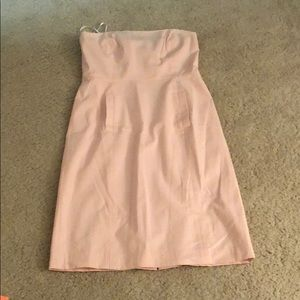 J crew seersucker strapless dress